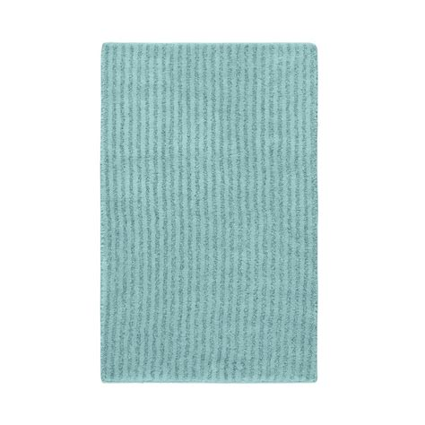 Bathroom Accent Rugs | garland rug sheridan sea foam 24 in x 40 in washable