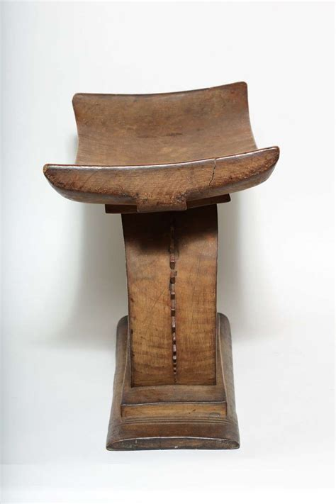 Carved Wood Stool by Early 20th Century Carved Wood Stool By Akan Ashanti For