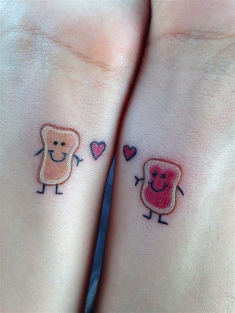 butter tattoo my boyfriend and i got these peanut butter jelly happy