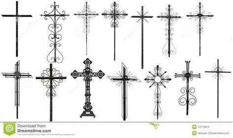 stylized christian cross stock photos image 14713913