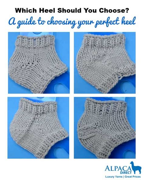 best way to knit socks learn an easy way to choose your heel style sock