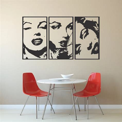 marilyn stickers for walls marilyn panel wall decals modern panel decals