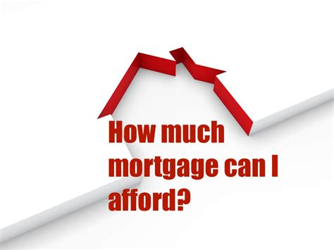 how much loan can i get for a house how much mortgage can i afford