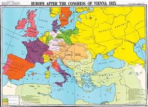 Vienna World Map by Europe After The Congress Of Vienna 1815 World History Map