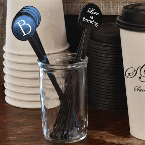7 In. Round Top Plastic Drink Stirrers Personalized   50ct