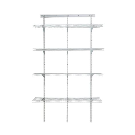closetmaid shelftrack 80 in h x 48 in w x 16 in d white