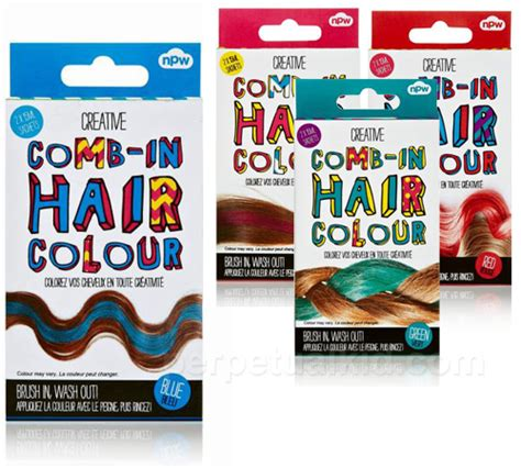 comb in wash out hair color hair chalk to cover gray brown hairs
