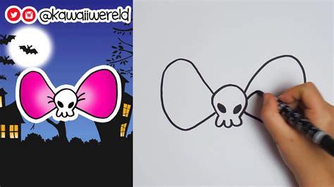 doodskop tekenen doodskop strikje halloween teken challenge dag 3 youtube