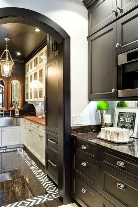 Pantry Black by Black Cabs Butler S Pantry Kitchen Trends Design