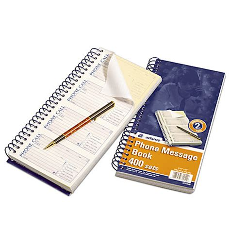 hilroy 46215 voicemail log book madill the office company