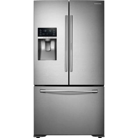 samsung cabinet depth door refrigerator samsung rf23htedbsr 23 cu ft counter depth 3 door