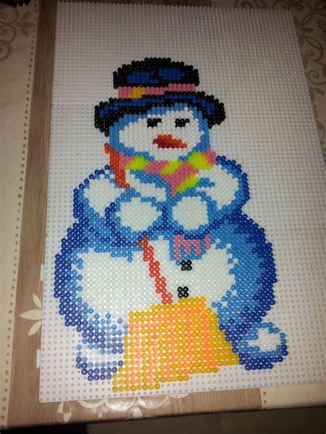 hama snowman winter snowman hama perler by max57 hama dk hama