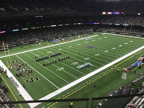 Superdome Sections by Superdome Section 525 New Orleans Saints Rateyourseats