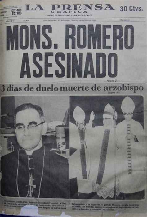 el asesinato de la 8466762523 el asesinato de monse 241 or romero contado por la prensa multimedia telesur