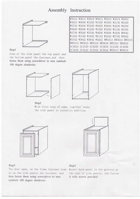 rta cabinet assembly rta kitchen cabinets assembly