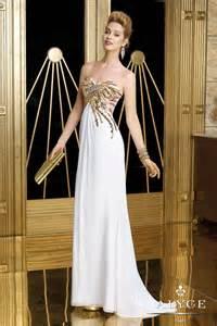 Gold Chandelier Earrings For Wedding Alyce 2014 White Gold Strapless Sweetheart Beaded Elegant