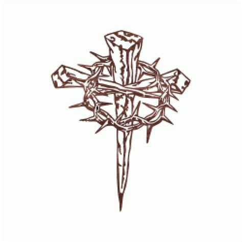 thorn cross tattoo cross of nails with crown of thorns tattoos