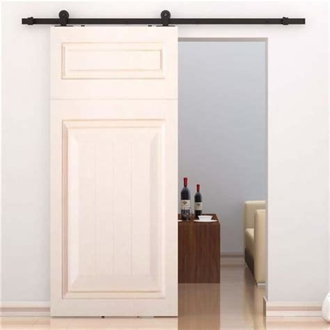 Sliding Interior Door Hardware Kits Convenience Boutique Modern 6 Interior Sliding Barn Door Kit Hardware Set Black Carbon