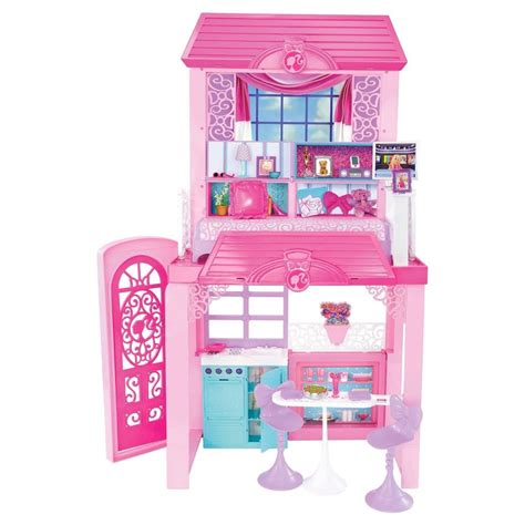 barbie dolls house furniture barbie dolls 2 story glam vacation doll house dollhouse furniture playset pink ebay