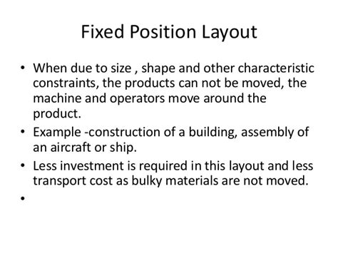 fix position layout adalah facility layout