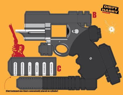 Papercraft Revolver - awesome papercraft guns templates ideas exle resume
