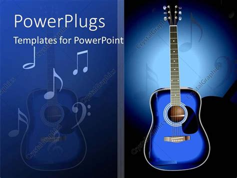 Powerpoint Template A Guitar And Music Signs Along With Place For Texts 15282 Guitar Powerpoint Template
