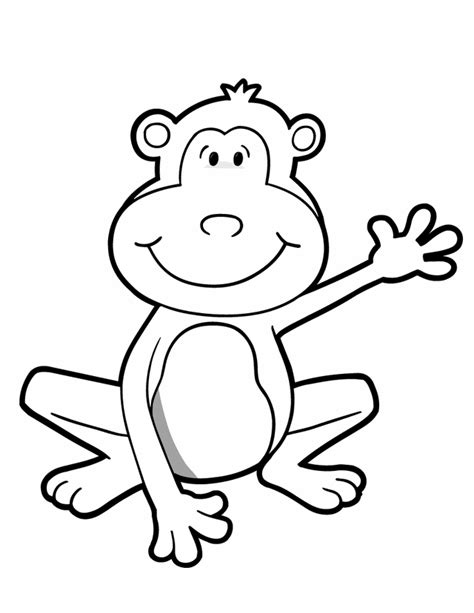 easy monkey coloring pages printable monkey crafts bing images monkey theme