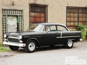 rods chevrolet placement on a 55 chevy the h a m b