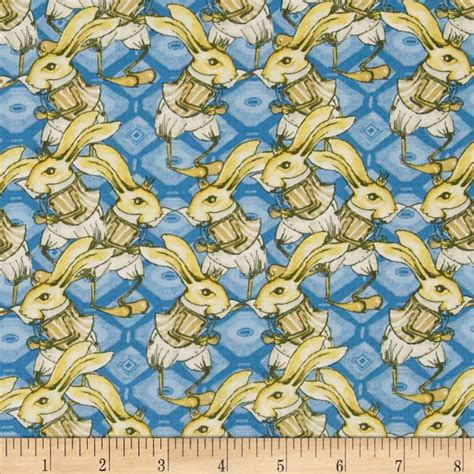 Rabbit Quilt Fabric by Tina Givens Riddles And Rhymes Bunny Rabbit Royal