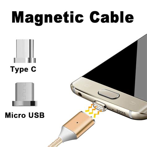 Charger Sync Stock Tipe C magnetic micro usb type c fast charging cable sync date cord for samsung s8 plus ebay