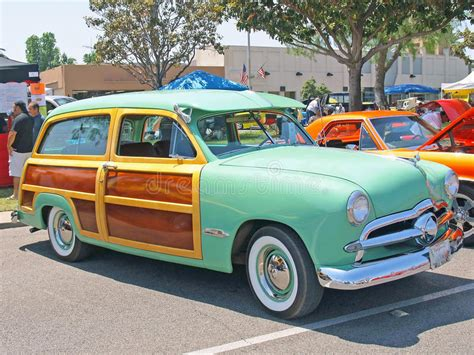green station wagon with wood ford station wagon editorial stock image image 32428009