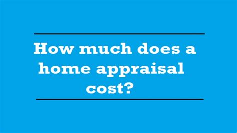 house appraisal cost how much does a home appraisal cost a quality appraisal 503 781 5646 youtube