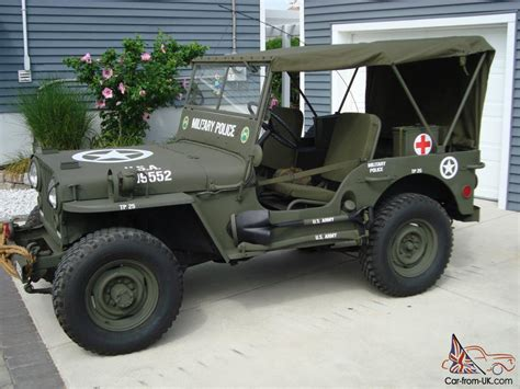 police jeep willys 1946 cj2a u s army ww2 type military police style