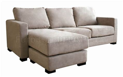 tan microfiber sectional tan microfiber contemporary sectional sofa and ottoman