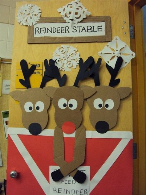 Reindeer Door Decorations by Reindeer Door 183 A Decoration 183 Decorating And Papercraft On Cut Out Keep