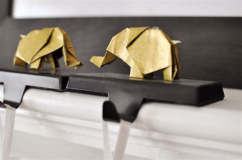 Origami Elephant Tutorial - the cheese thief glitter origami elephant ornament tutorial