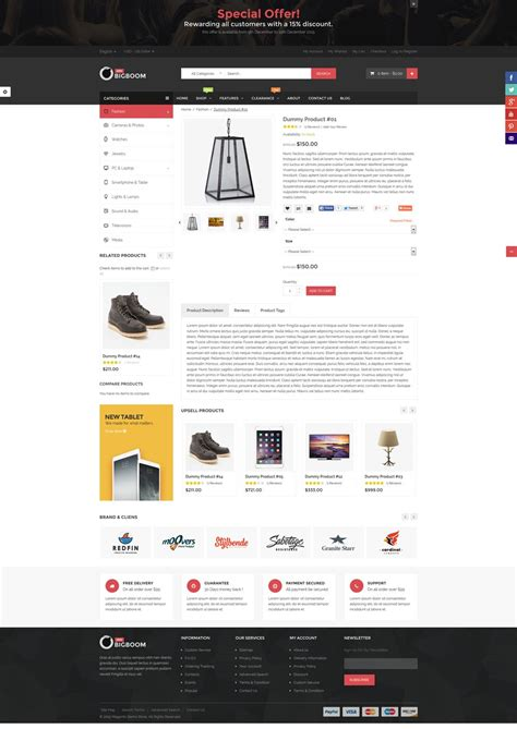 Magento Templates Responsive bigboom multistore responsive magento theme magento