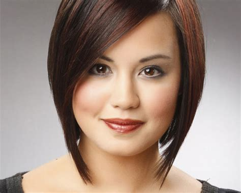 bob haircuts for round faces back and front short angled bob hairstyles for round faces