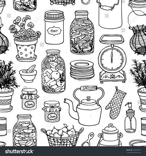 item doodle draw kitchen items drawing temasistemi net