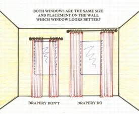 Hanging Curtains High And Wide Designs Make Your Windows Look Bigger Tidbits Twine