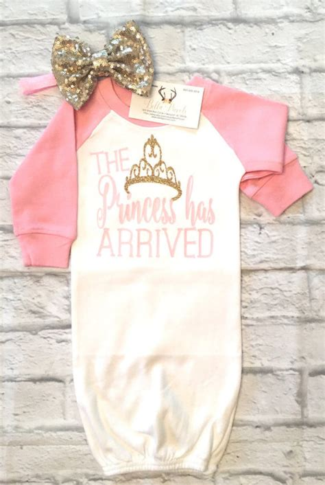 this etsy shop has the cutest baby clothes babyclothes baby clothes the princess has arrived raglan gown