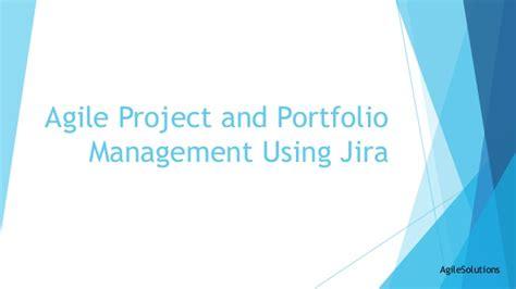 agile portfolio management with portfolio for jira and agile project and portfolio management using jira