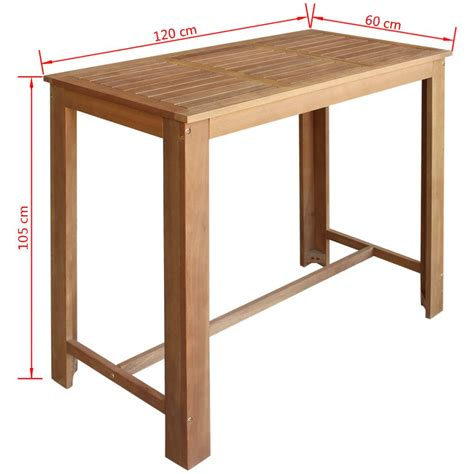 Solid Wood Bar Table And Stools by 243891 Vidaxl Five Bar Table And Stool Set Solid