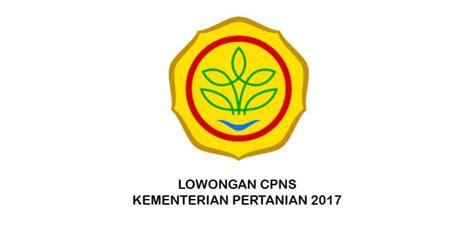 lowongan cpns kementerian pertanian  cpns indonesia