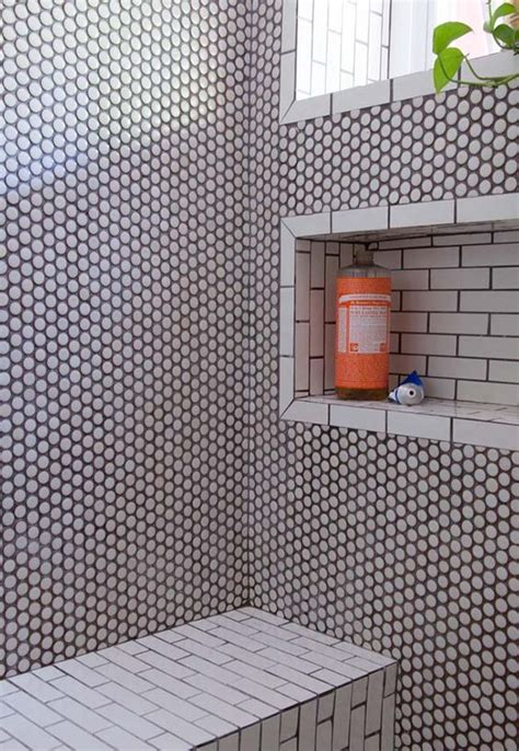 penny tiles bathroom penny tile tile and pennies on pinterest