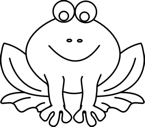 frog outline template frog outline clip at clker vector clip
