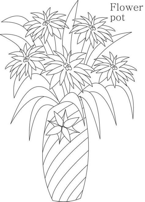 disegni vasi vasi di fiori da colorare 17