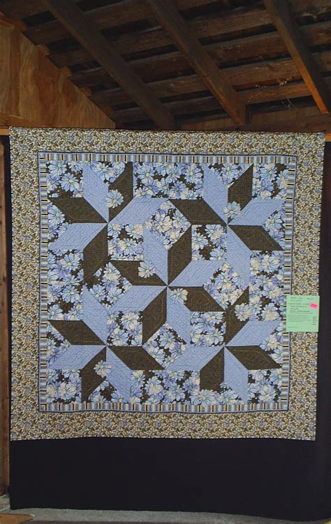 Brown Blue Quilt by More Quilts From Bzb Show Blue Nickel Studios