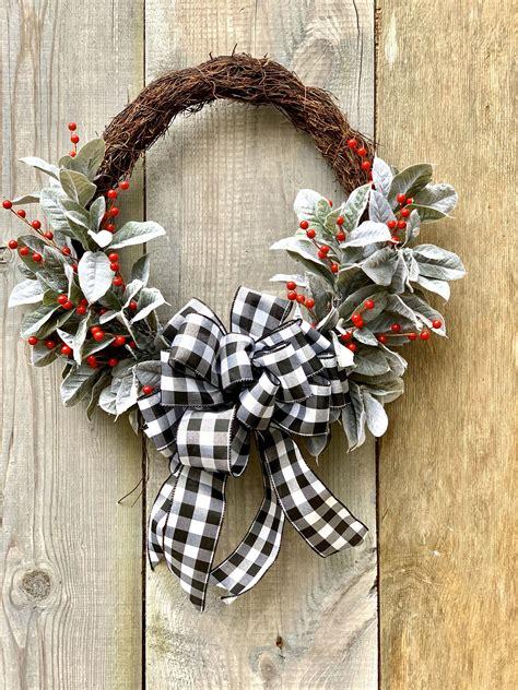 holiday door wreath christmas door wreathbuffalo check