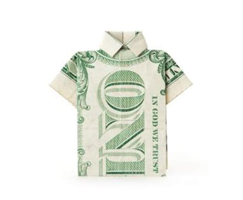 T Shirt Dollar Origami - an origami koi fish made with a 1 dollar bill pics